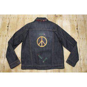 Coldwater Creek women S denim jacket peace hipster